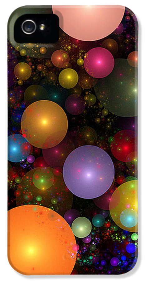 Abstract IPhone 5 Case featuring the digital art Billions Of Bubbles by Peggi Wolfe