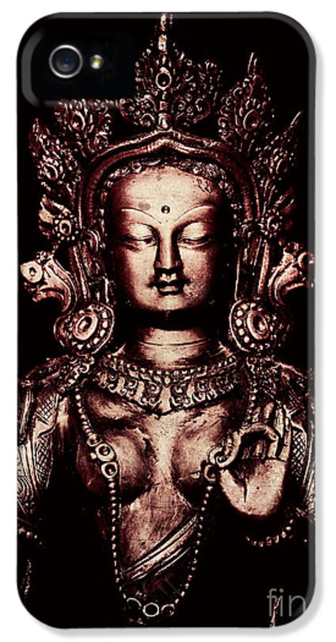 Buddhist IPhone 5 Case featuring the photograph Buddhist Tara Deity by Tim Gainey