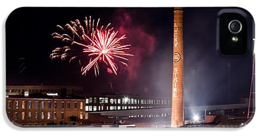 Bulls IPhone 5 / 5s Case featuring the photograph Bull Durham Fireworks by Jh Photos