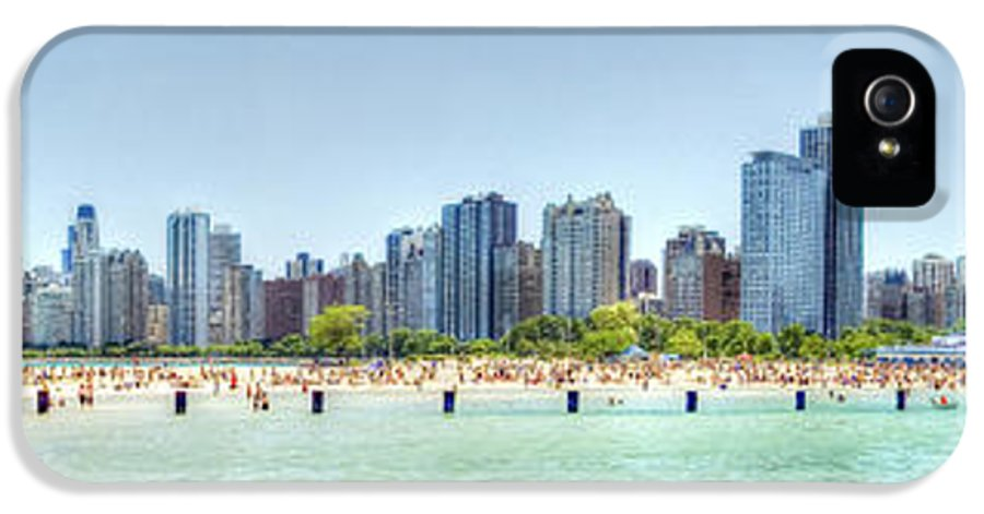Chicago IPhone 5 Case featuring the photograph Chicago North Avenue Beach by Patrick Warneka