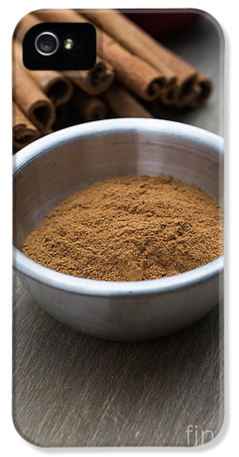 Food IPhone 5 / 5s Case featuring the photograph Cinnamon Spice by Edward Fielding