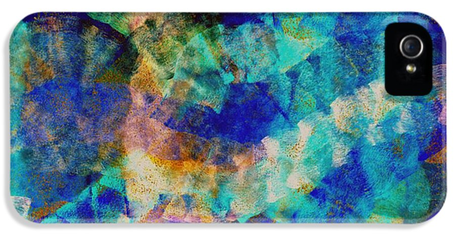 Abstract IPhone 5 Case featuring the digital art Electric Blue by Julio Haro