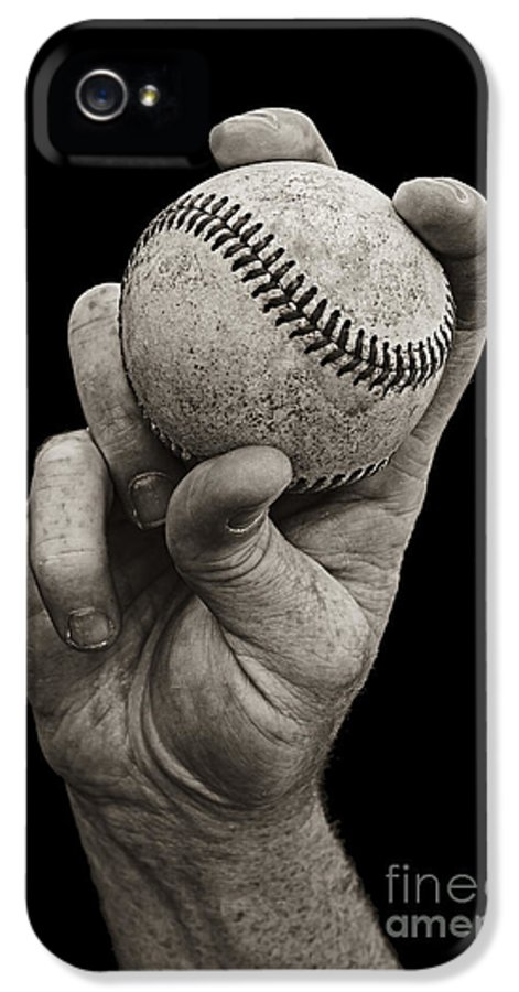 Baseball IPhone 5 Case featuring the photograph Fastball by Diane Diederich