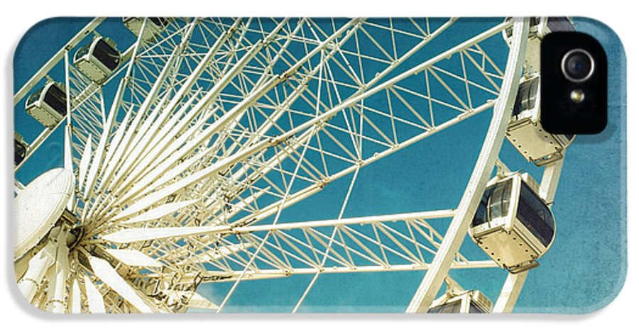 Wheel IPhone 5 Case featuring the photograph Ferris Wheel Retro by Jane Rix