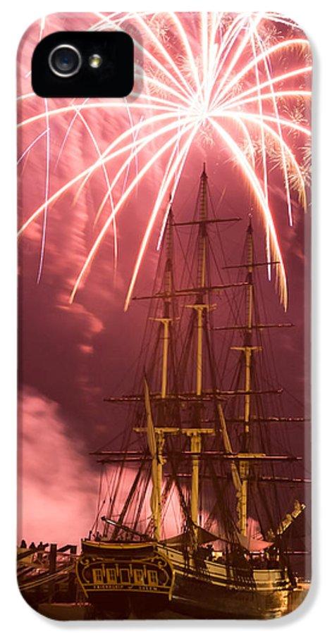 Salem Fireworks IPhone 5 Case featuring the photograph Fireworks Exploding Over Salem's Friendship by Jeff Folger