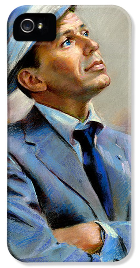 Francis frank Sinatra IPhone 5 Case featuring the pastel Frank Sinatra by Ylli Haruni