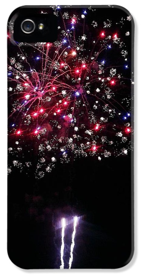 Fireworks IPhone 5 Case featuring the photograph Freedom Blooms by Andrew Stoffel