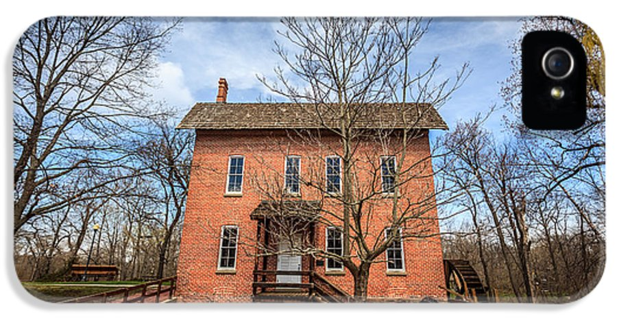 1800's IPhone 5 Case featuring the photograph Grist Mill In Deep River County Park by Paul Velgos