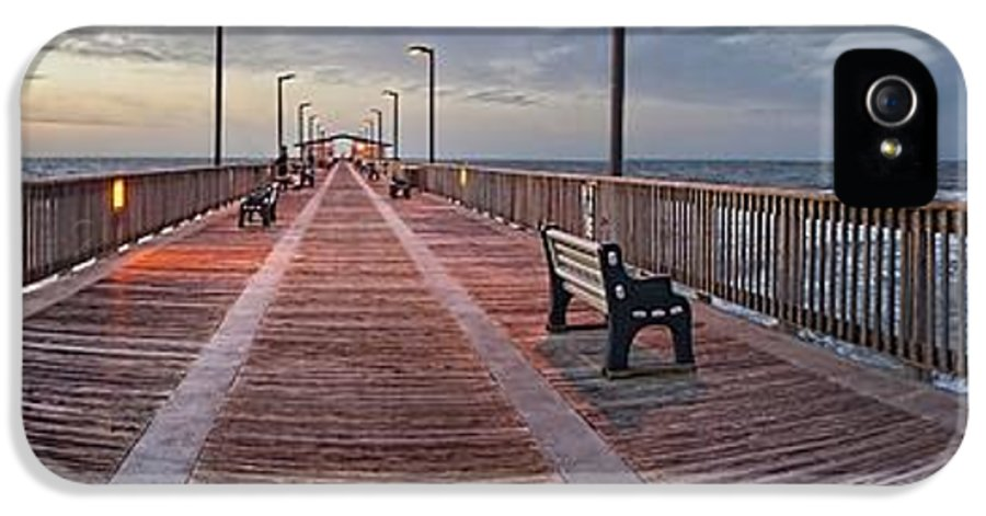Palm IPhone 5 / 5s Case featuring the digital art Gulf State Pier by Michael Thomas