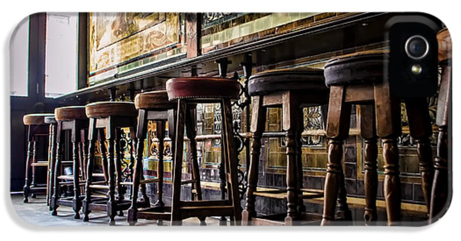 Barstools IPhone 5 Case featuring the photograph Have A Seat by Heather Applegate