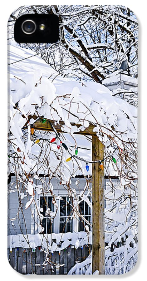 House IPhone 5 Case featuring the photograph House Under Snow by Elena Elisseeva