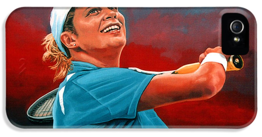 Paul Meijering IPhone 5 Case featuring the painting Kim Clijsters by Paul Meijering