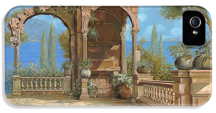 Terrace IPhone 5 Case featuring the painting La Terrazza Sul Lago by Guido Borelli