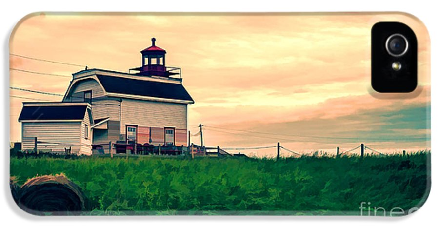 Lighthouse IPhone 5 Case featuring the photograph Lighthouse Prince Edward Island by Edward Fielding