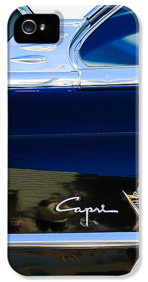 Lincoln Capri Emblem IPhone 5 Case featuring the photograph Lincoln Capri Emblem by Jill Reger