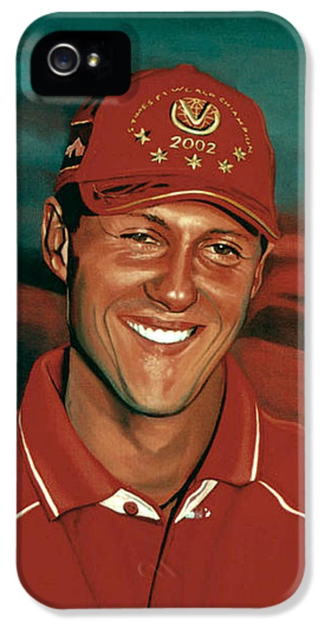 Michael Schumacher IPhone 5 Case featuring the painting Michael Schumacher by Paul Meijering