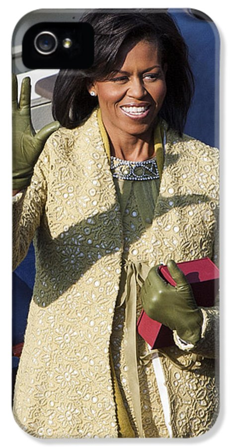 Barack Obama IPhone 5 Case featuring the photograph Michelle Obama by JP Tripp