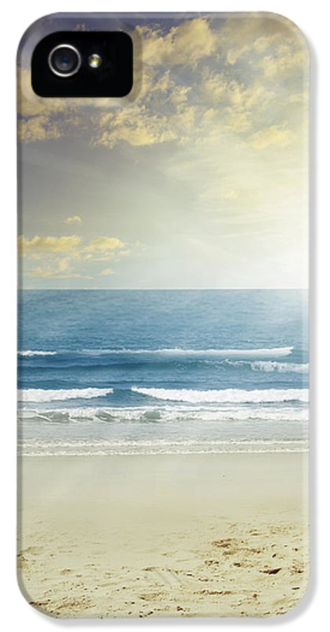 Beach IPhone 5 Case featuring the photograph New Day by Les Cunliffe