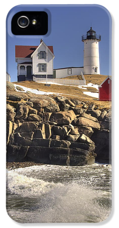 Water IPhone 5 Case featuring the photograph Nubble Lighthouse 3 by Joann Vitali