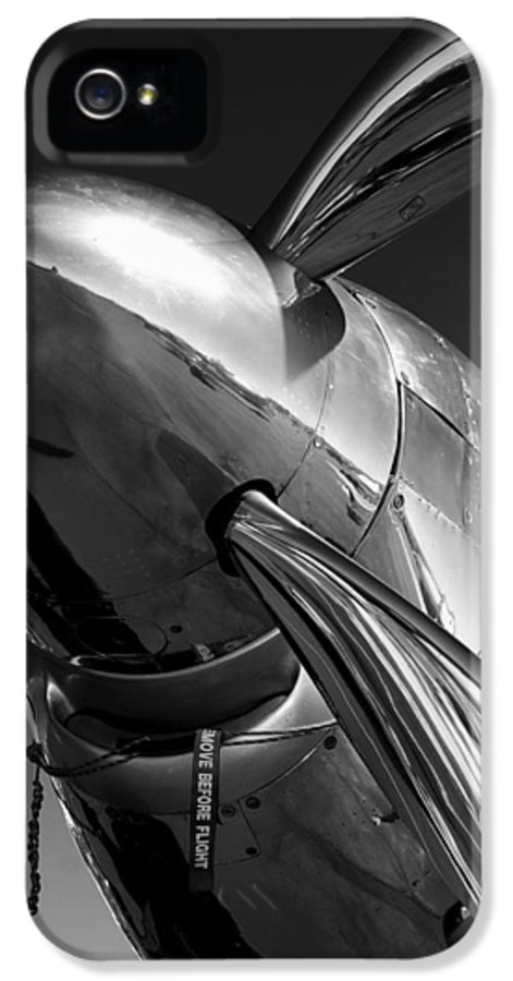 P51 IPhone 5 Case featuring the photograph P-51 Mustang by John Hamlon