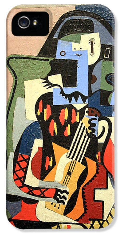 Harlequin Musician IPhone 5 Case featuring the photograph Picasso's Harlequin Musician by Cora Wandel
