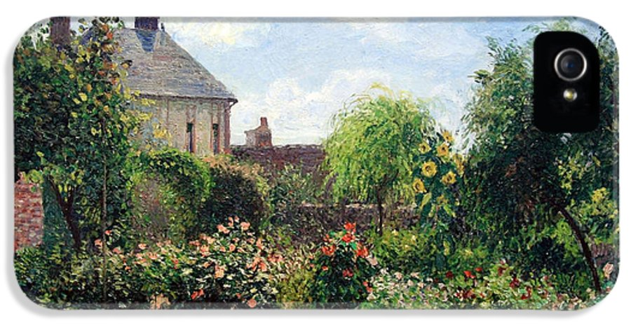 The Artist's Garden At Eragny IPhone 5 Case featuring the photograph Pissarro's The Artist's Garden At Eragny by Cora Wandel