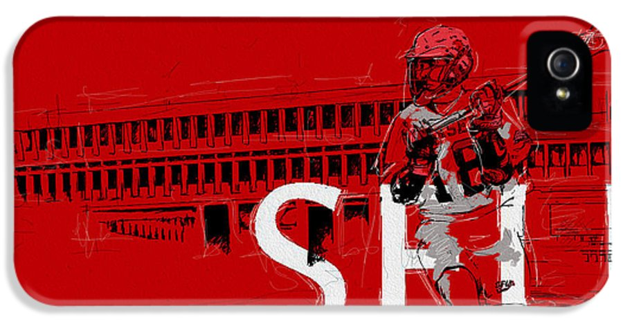 Sports IPhone 5 Case featuring the painting Sfu Art by Catf