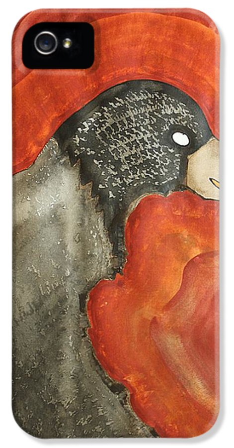 Shaman IPhone 5 Case featuring the painting Shaman Original Painting by Sol Luckman