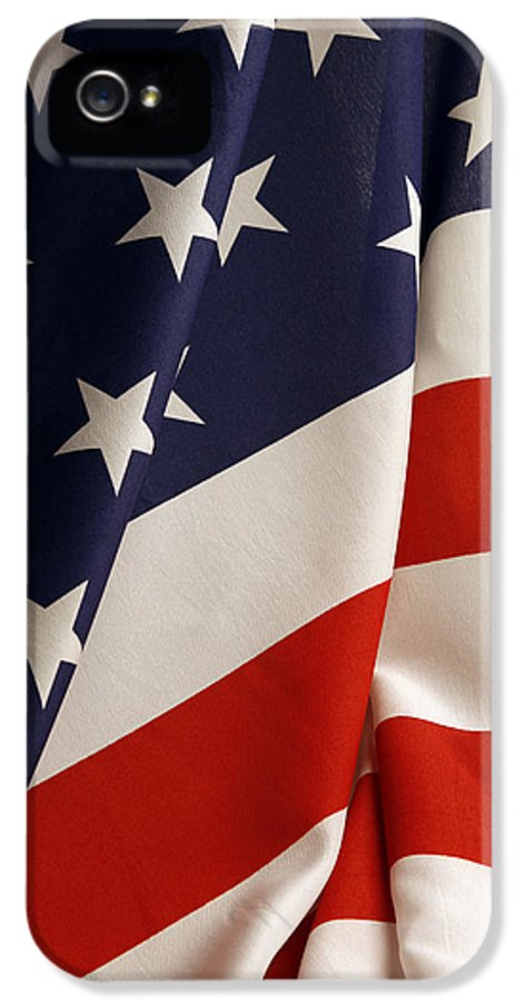American Flag IPhone 5 Case featuring the photograph Stars And Stripes by Les Cunliffe