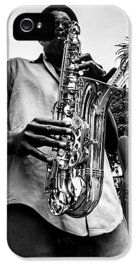 New Orleans IPhone 5 Case featuring the photograph Street Jazz On Display 2 by Andy Crawford