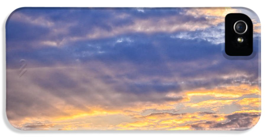 Sky IPhone 5 Case featuring the photograph Sunset Sky by Elena Elisseeva