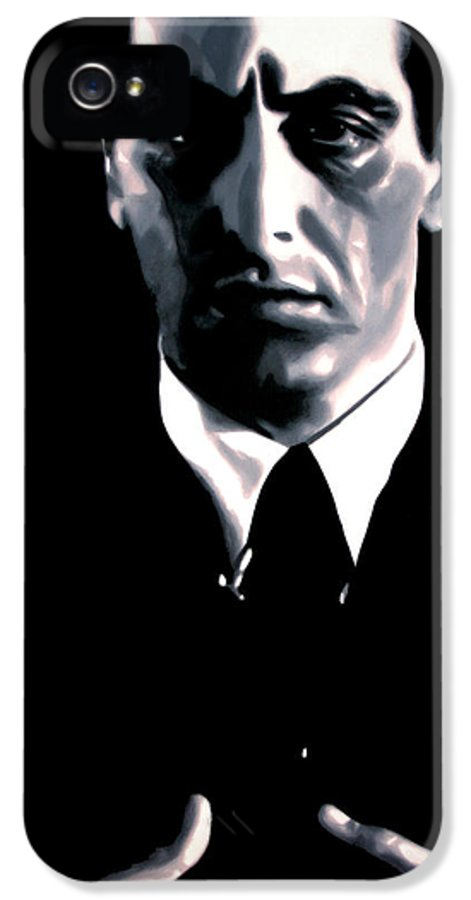 Ludzska IPhone 5 Case featuring the painting The Godfather by Luis Ludzska