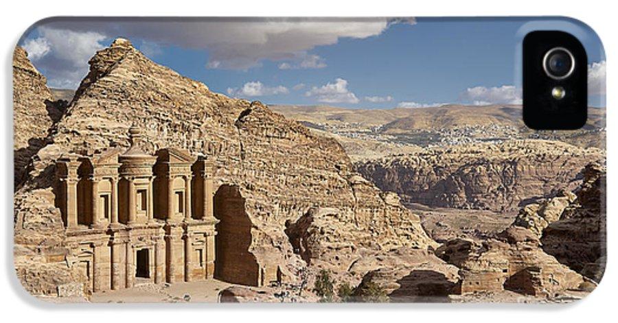 Jordan IPhone 5 Case featuring the photograph The Monastery El Deir Or Al Deir by Juergen Ritterbach