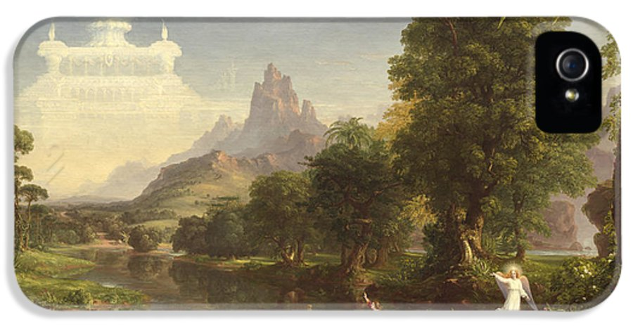 Thomas Cole IPhone 5 Case featuring the painting The Voyage Of Life Youth by Thomas Cole