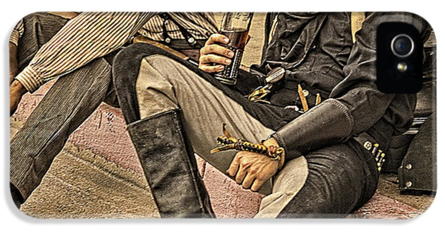 Whiskey Row Shootout IPhone 5 Case featuring the photograph Two Of A Kind by Priscilla Burgers