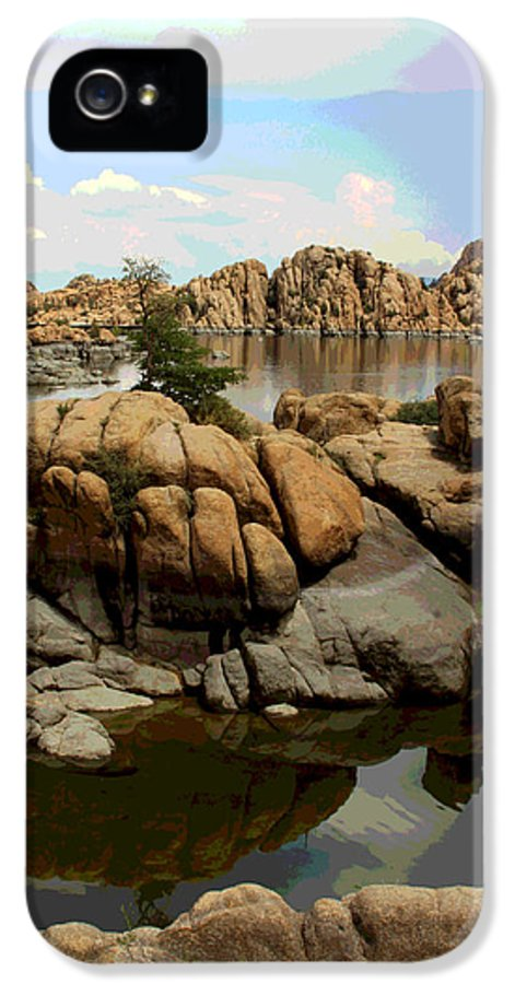 Watson Lake Reflections IPhone 5 Case featuring the photograph Watson Lake Reflections by Greg Thiemeyer