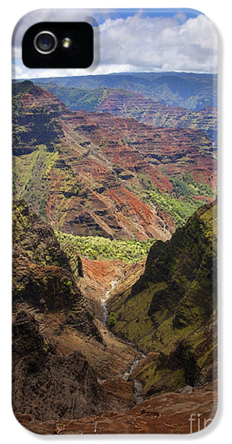 Wiamea Canyon IPhone 5 Case featuring the photograph Wiamea Depth by Mike Dawson