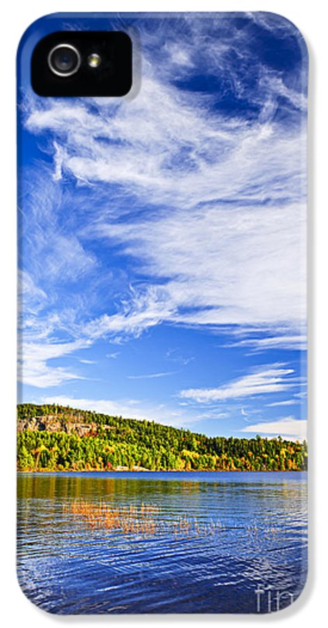 Autumn IPhone 5 / 5s Case featuring the photograph Fall Forest And Lake by Elena Elisseeva