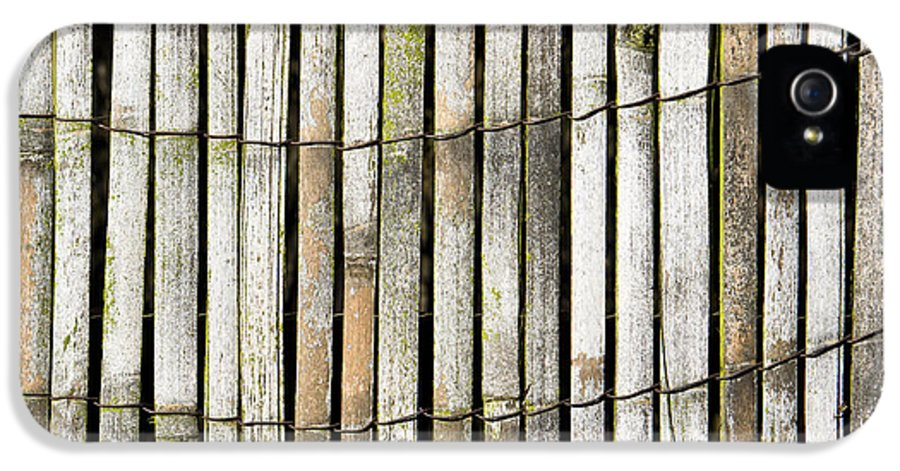 Abstract IPhone 5 Case featuring the photograph Wood Background by Tom Gowanlock