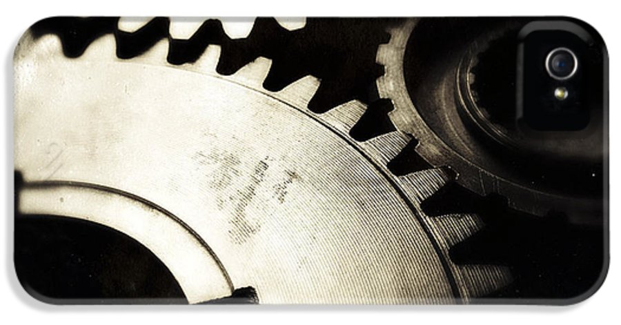 Three IPhone 5 Case featuring the photograph Cogs by Les Cunliffe