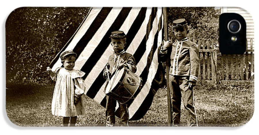 Americana IPhone 5 Case featuring the photograph 1890 The Young Patriots by Historic Image