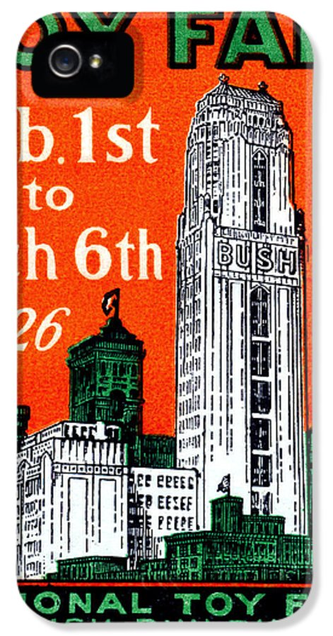 Historic Image IPhone 5 Case featuring the painting 1926 New York City Toy Fair Poster by Historic Image
