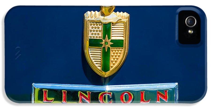 1942 Lincoln Continental Cabriolet Emblem IPhone 5 Case featuring the photograph 1942 Lincoln Continental Cabriolet Emblem by Jill Reger