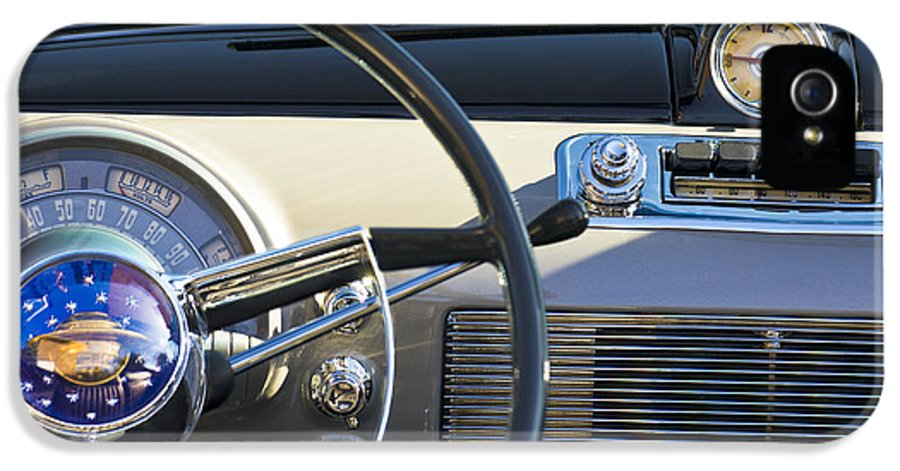 1950 Oldsmobile Rocket 88 IPhone 5 Case featuring the photograph 1950 Oldsmobile Rocket 88 Steering Wheel 3 by Jill Reger