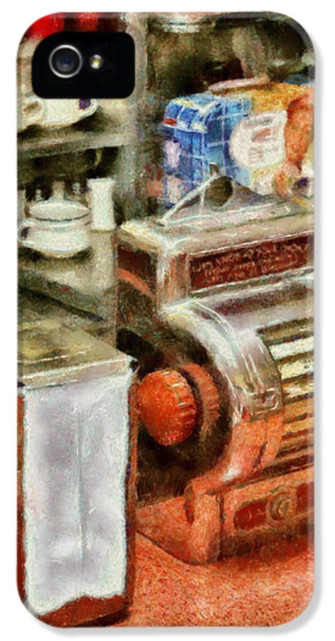 American Diner IPhone 5 Case featuring the photograph 1950's - The Greasy Spoon by Mike Savad