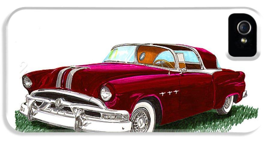 Classic Car Art IPhone 5 Case featuring the painting 1953 Pontiac Parisienne Concept by Jack Pumphrey