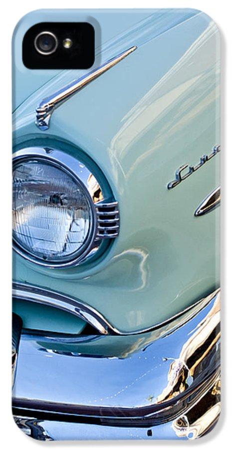 1954 Lincoln Capri IPhone 5 Case featuring the photograph 1954 Lincoln Capri Headlight by Jill Reger