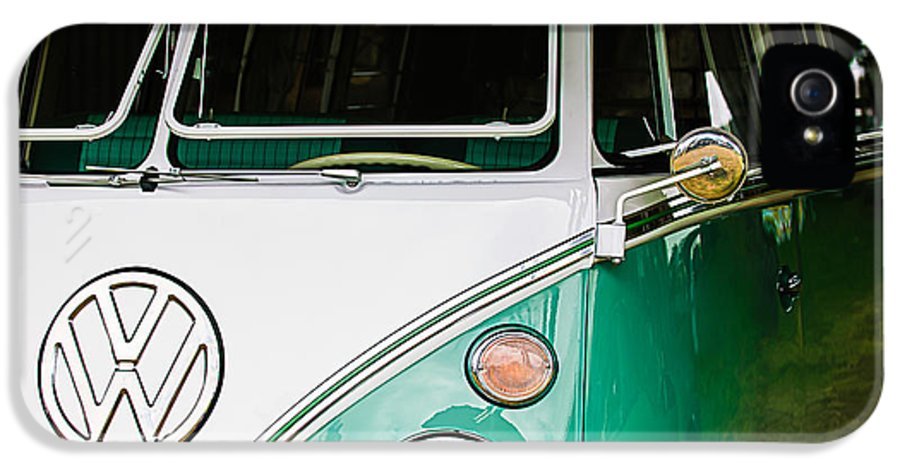 1964 Volkswagen Vw Samba 21 Window Bus IPhone 5 Case featuring the photograph 1964 Volkswagen Vw Samba 21 Window Bus by Jill Reger