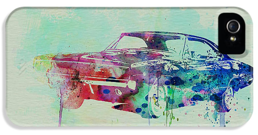 1967 Dodge Charger IPhone 5 / 5s Case featuring the painting 1967 Dodge Charger 2 by Naxart Studio