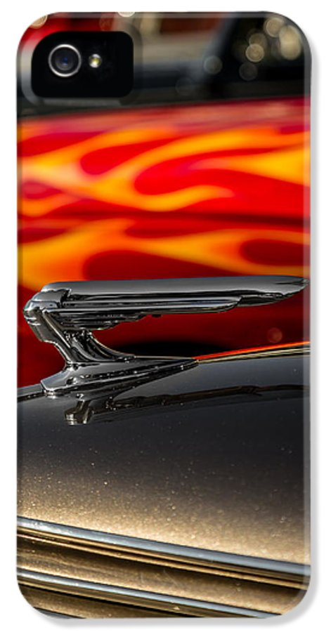 Car Show IPhone 5 Case featuring the photograph 1939 Graham Coupe Hood Ornament by Ron Pate